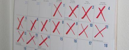 Méthode du calendrier pour réaliser ses objectifs.