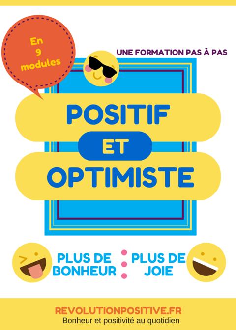 Devenir plus positif et optimiste en 8 semaines seulement