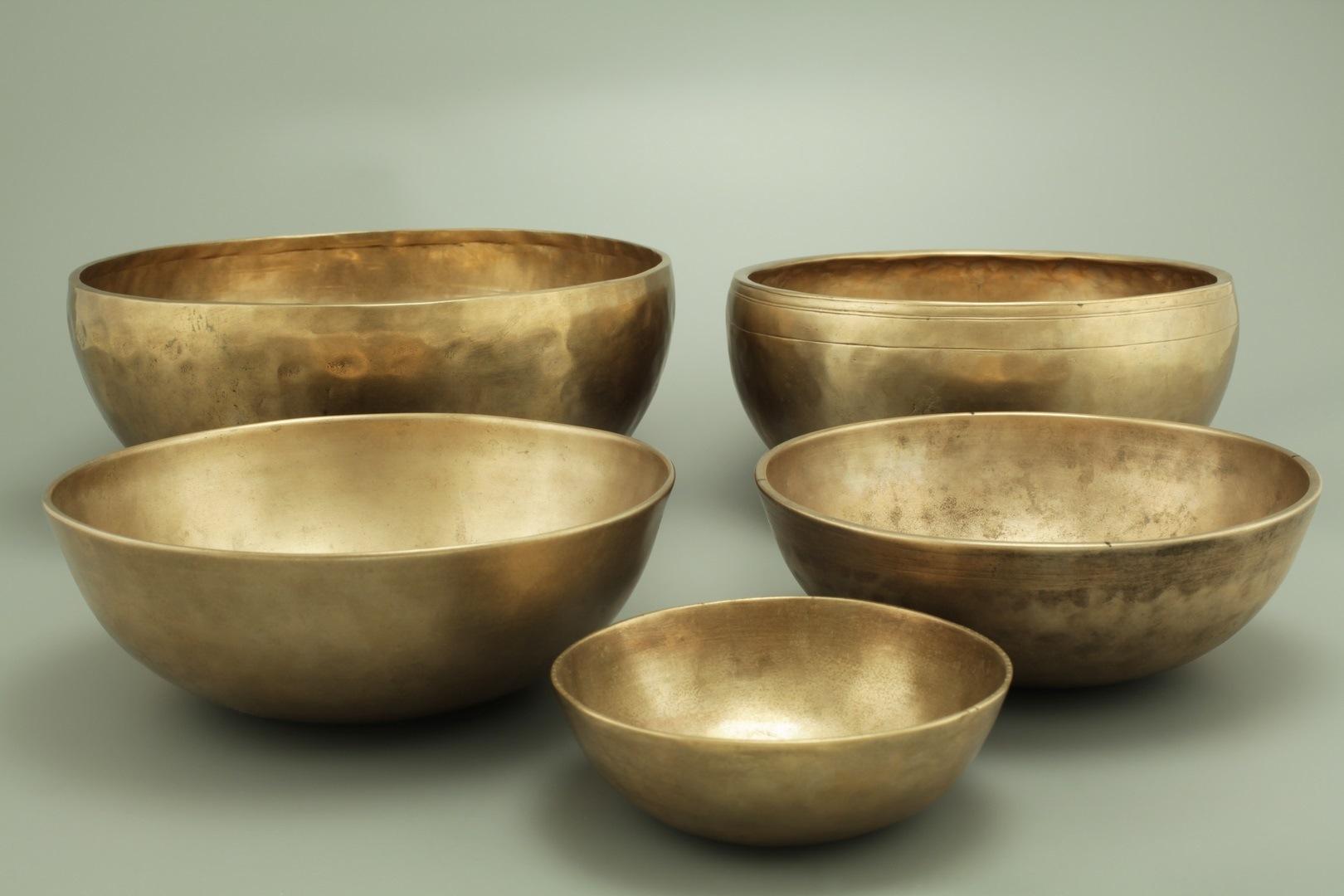 les différentes tailles de bol tibétains - Plusieurs tailles pour plusieurs effets